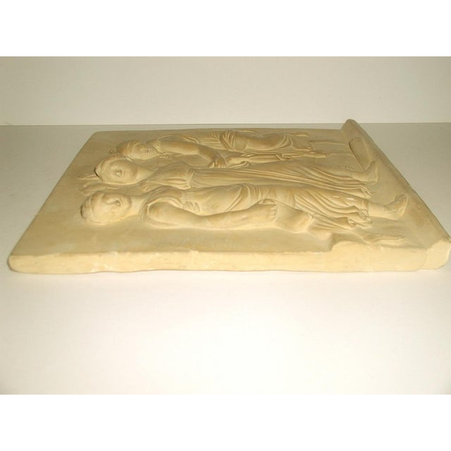 Neoclassical Roman Plaque Plaster Wall Hanging For Sale - Image 6 of 8