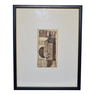 1970s Charles Robert Searles Signed Ink Drawing For Sale