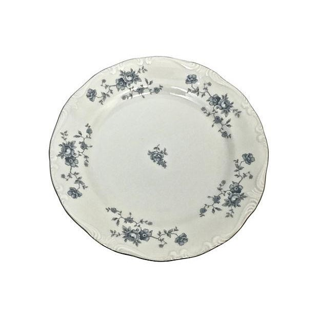Ceramic Haviland Blue Garland Plates - Set of 9 For Sale - Image 7 of 9