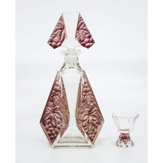 Karl Palda Art Deco Czech Decanter and Shot Glasses - Set of 7 Preview