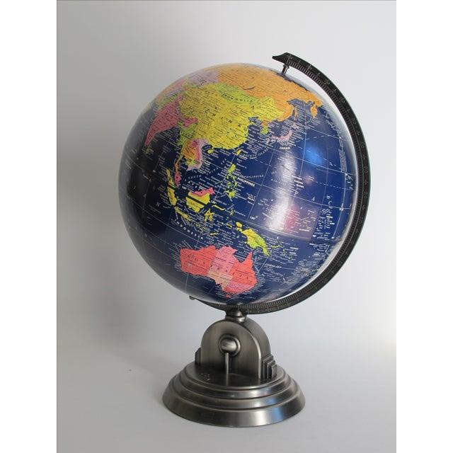 Art Deco Vintage 1980s Desk Globe For Sale - Image 3 of 8
