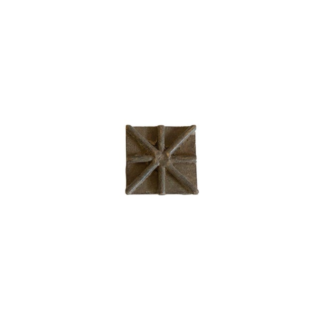 Mid 20th Century Vintage African Square Bronze Coin For Sale - Image 5 of 5