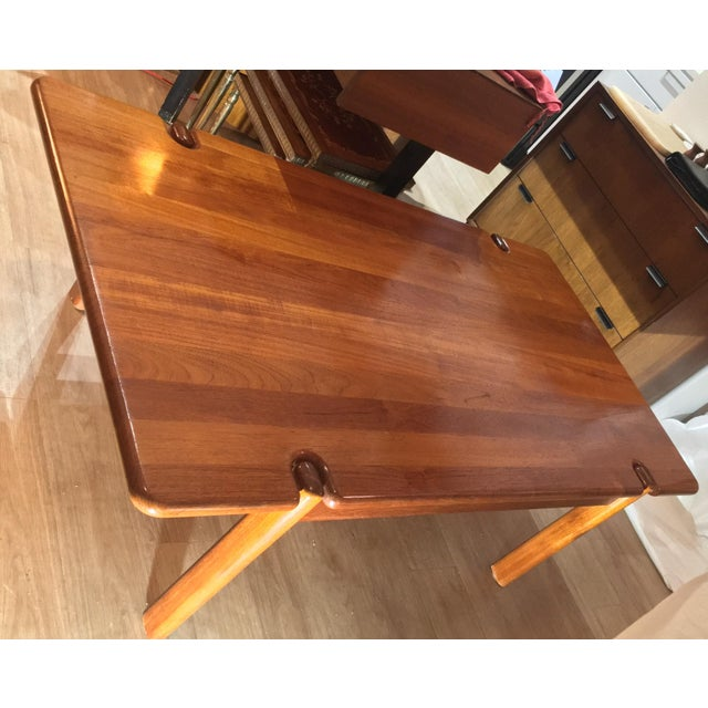 """This is a beauty but built like a beast. Solid teak and measures 55"""" x 30"""" x 18"""" tall. It is not as heavy as you'd think..."""