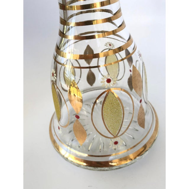 Mid Century Modern 22k Gold Gilt Wine Decanter For Sale In Miami - Image 6 of 8