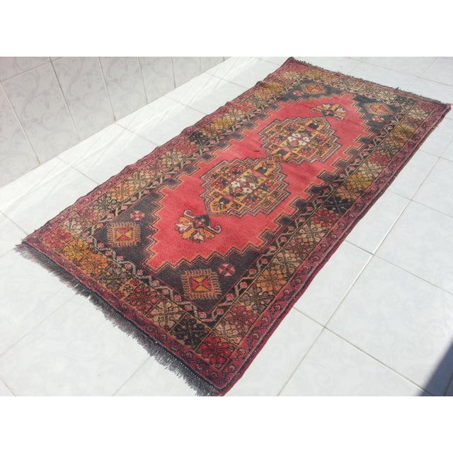 Contemporary Turkish Oushak Rug - 3′7″ × 7′ For Sale - Image 3 of 6