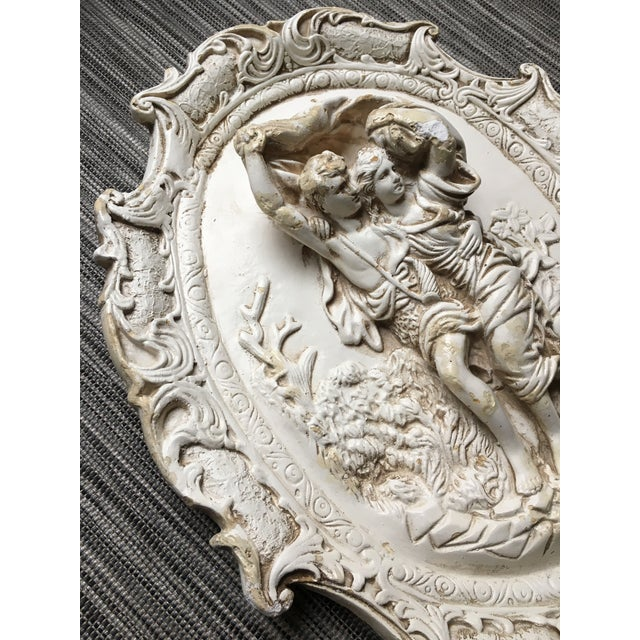Rococo Chalkware Wall Hanging - Image 3 of 5
