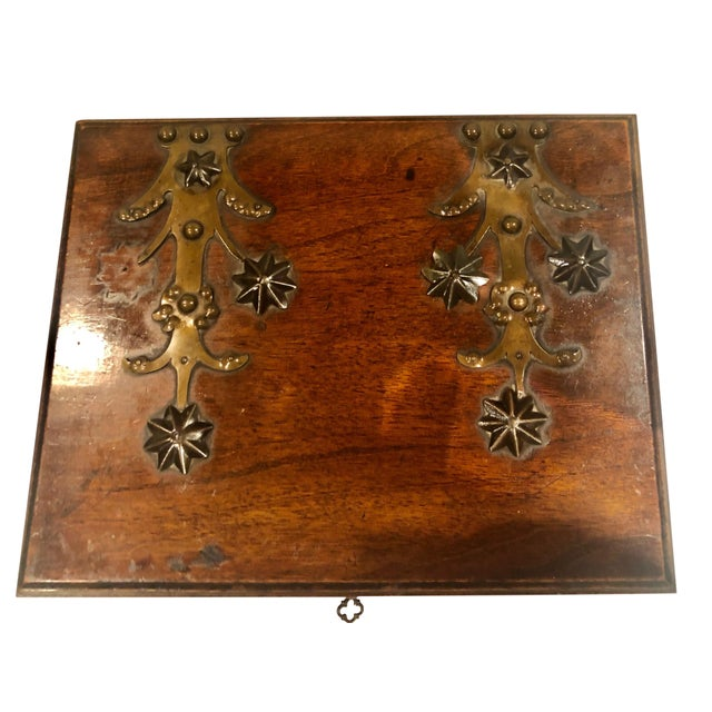Antique Turn of the Century German Walnut Box For Sale - Image 4 of 10