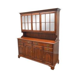 Henkel Harris Vintage Solid Wild Black Cherry China Cabinet Hutch Top Sideboard