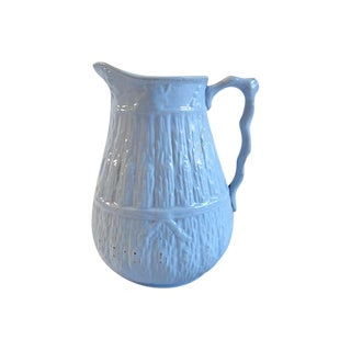 Antique Staffordshire Blue Harvest Milk Jug