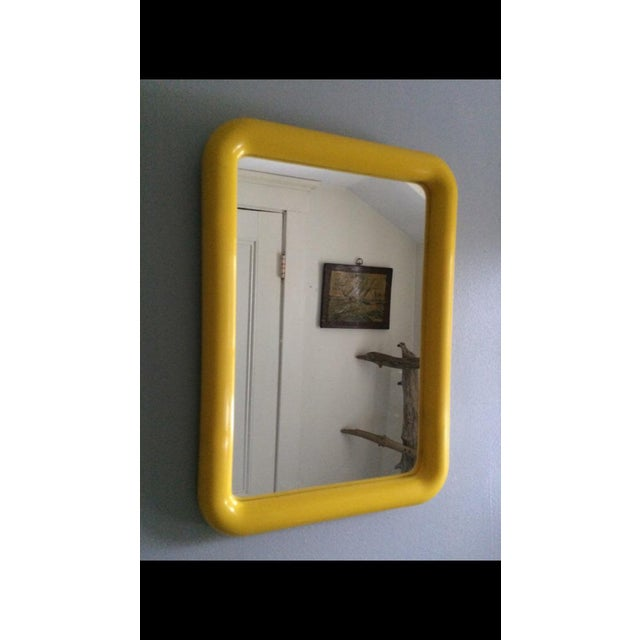 Mid Century Yellow Plastic Space Age Mirror - Image 2 of 6