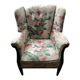 Antique Floral Chair For Sale