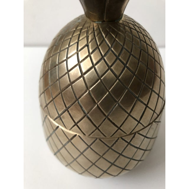Vintage Brass Pineapple For Sale - Image 5 of 9