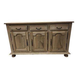 Louis XV French Provincial Stripped Oak Enfilade For Sale