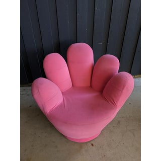 Boho Chic Pink Hand Shaped Swivel Lounge Chair Preview