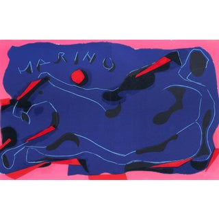 1974 XX Siecle Homage to Marini Two Horses Lithograph For Sale