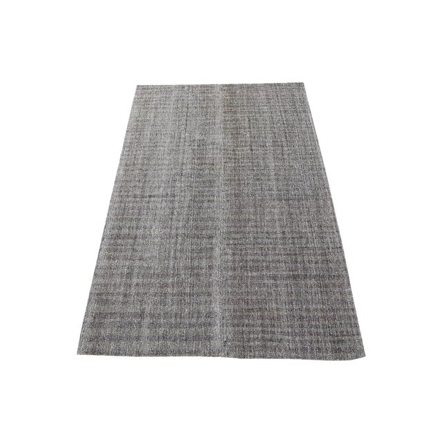 Early 20th Century Vintage Turkish Gray Brown Kilim Rug - 5′9″ × 10′ For Sale