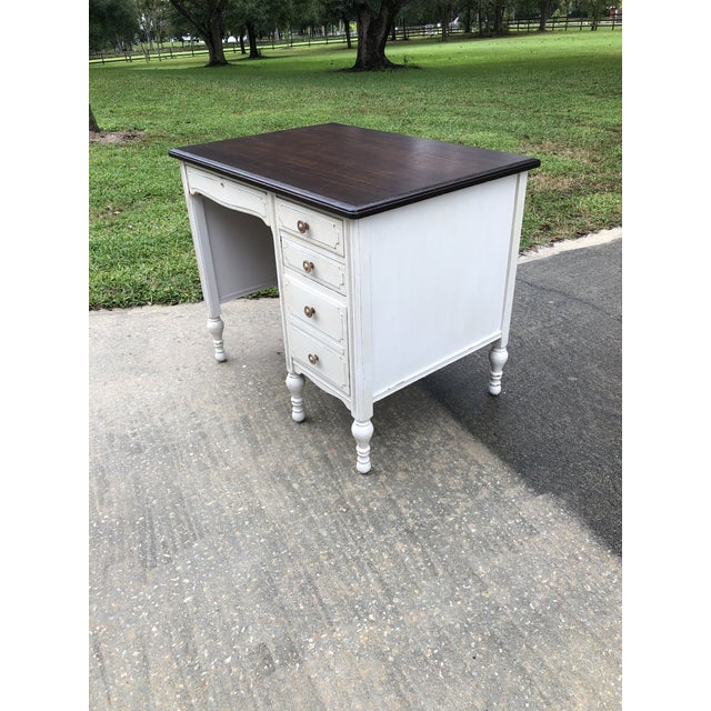 Traditional Vintage Traditional Mahogany Writing Desk For Sale - Image 3 of 11