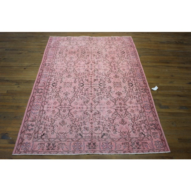 Pink Overdyed Oushak Rug - 6′2″ × 9′1″ - Image 2 of 7