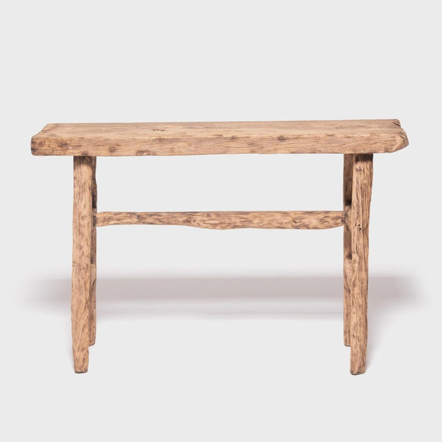 Reclaimed Chinese Elm Courtyard Console Table For Sale - Image 4 of 7