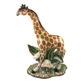 Giraffe and Calla Lily Figurine For Sale