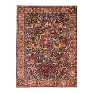 Antique Agra Indian Rug with Royal Howdah and Hunting Scene For Sale