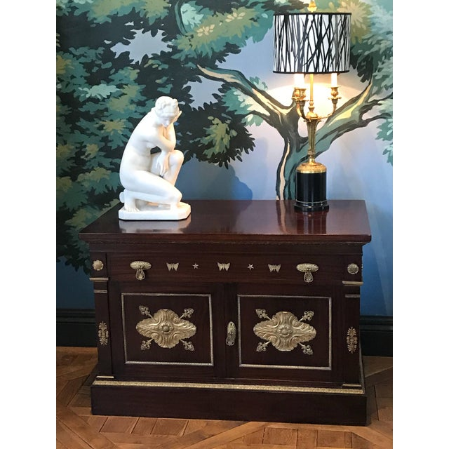 This mahogany Empire Rivival Cabinet is deep enough to store your architectural prints, music sheets, drawings or...