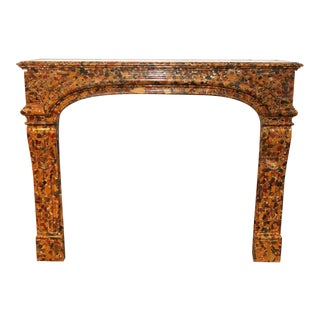 French Louis XIV Breche D'alep Marble Mantel For Sale