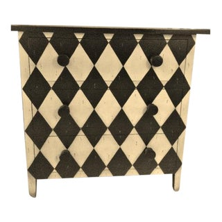3-Drawer Harlequin Painted Chest