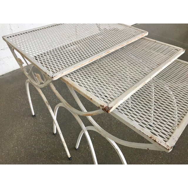 Mid-Century Modern Salterini Iron Nesting Tables - Set of 3 - Image 7 of 9