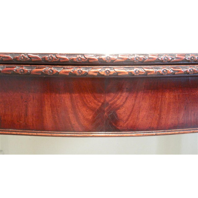 18th Century George III Mahogany Serpentine Front Game Table - Image 4 of 10