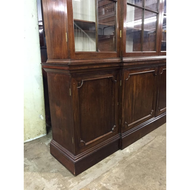 Early 19th Century 19th C. Vintage English Mahogany Breakfront For Sale - Image 5 of 8