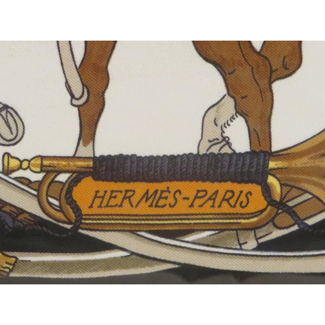 Black Hermes French Vintage Scarf For Sale - Image 8 of 11