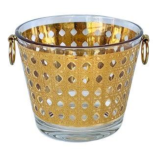 Vintage Culver Canella 22k Gold Cane Ice Bucket