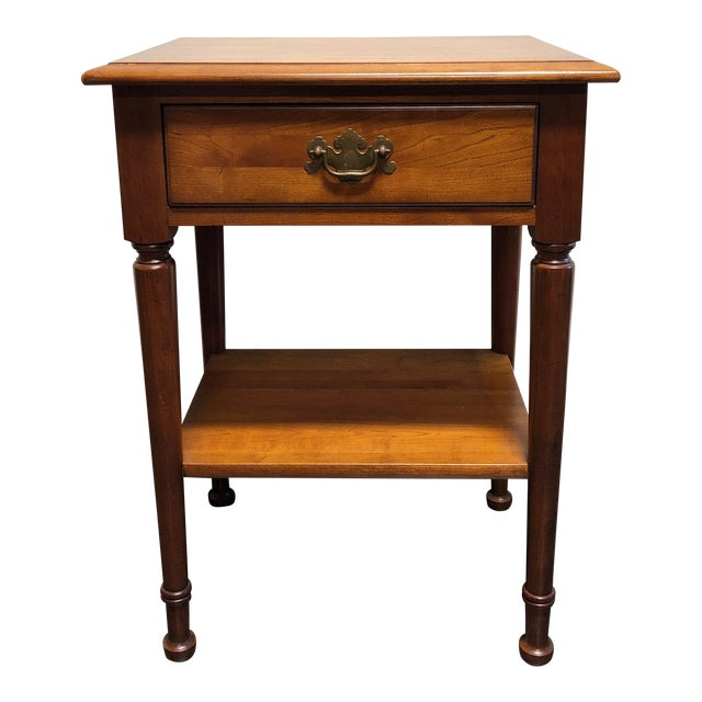 Solid Cherry Chippendale Nightstand by Cherry Hill Collection For Sale