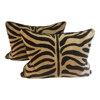 Zebra Print Pillows - A Pair For Sale