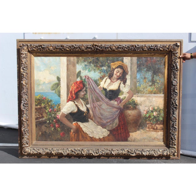 Massive 6 Foot Italian Painting For Sale In San Diego - Image 6 of 6
