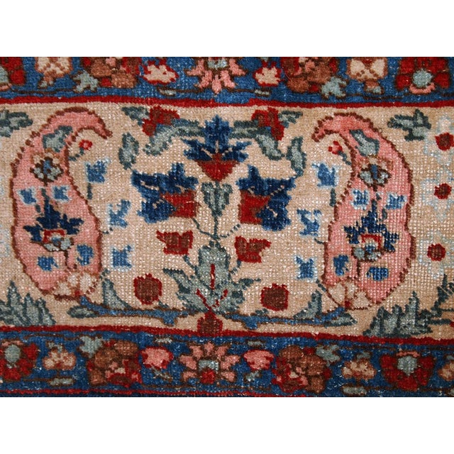 1920s Antique Persian Tabriz Rug- 6′4″ × 10′2″ For Sale - Image 10 of 10
