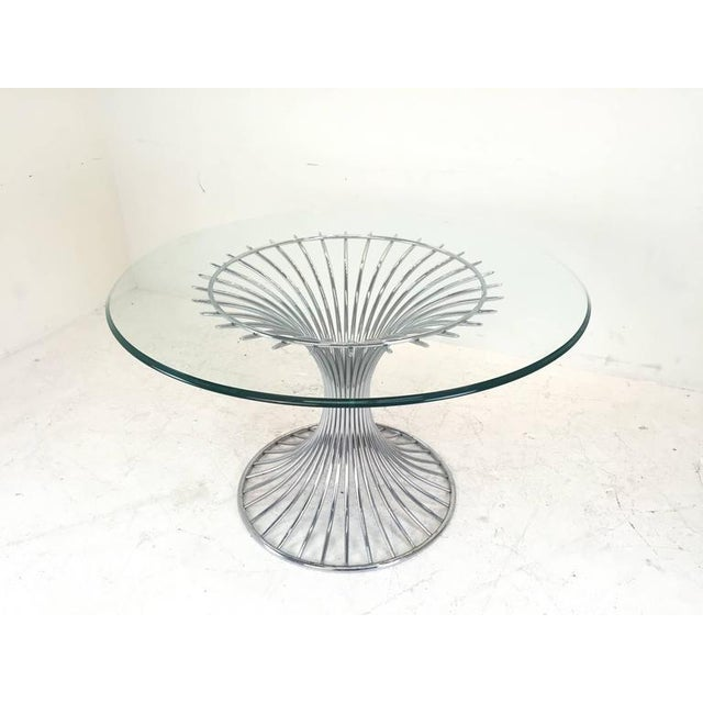 Mid-Century Modern Sculpted Dining Set - Image 6 of 8