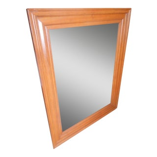 Vintage Mid Century Modern Solid Teak Wall Mirror For Sale