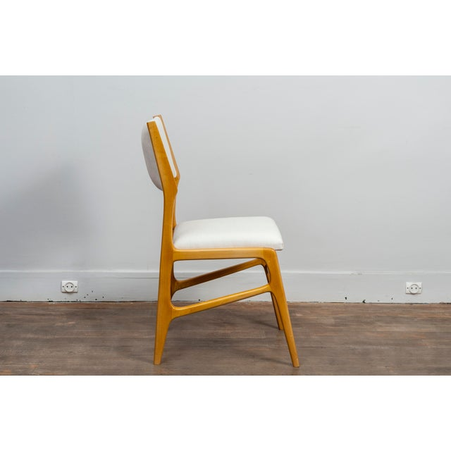Set of 12 Gio Ponti Ash Chairs, Model 687, Italy, 1953 For Sale - Image 6 of 9