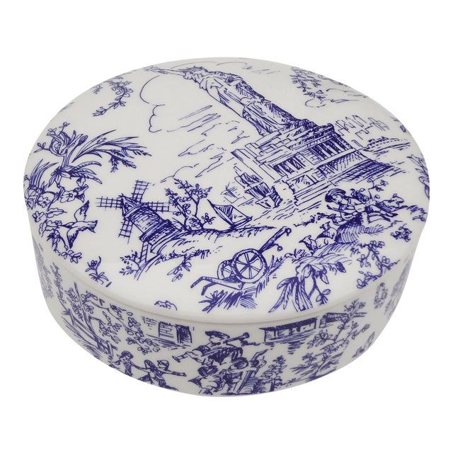 Tiffany & Co. Blue & White Lidded Trinket Bowl - Image 1 of 7