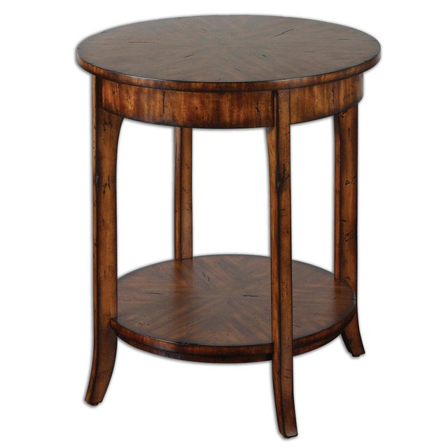 Traditional Style Round Lamp Table For Sale In Sacramento - Image 6 of 6