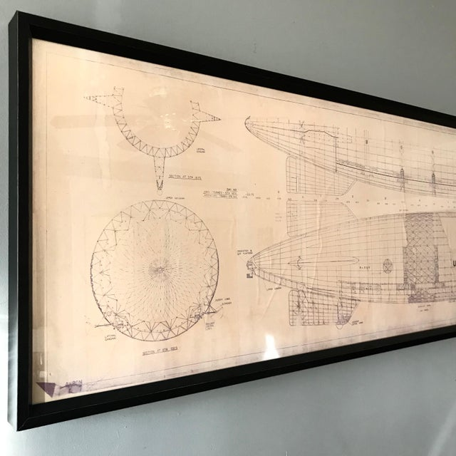 Vintage U.S. Navy Airship Blueprint For Sale - Image 5 of 11