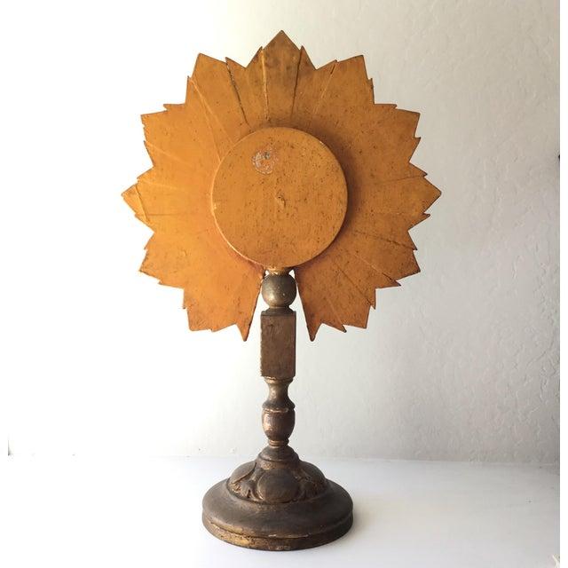Antique Sunburst Convex Mirror Stand - Image 3 of 3
