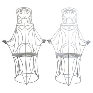 Pair of Lady Chairs by John Risley For Sale