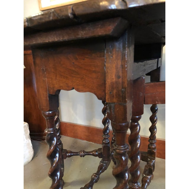 17th Century Circa 1680 English Barley Twist Gate Leg Table For Sale - Image 11 of 13