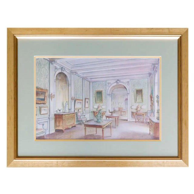 Antique French Interiors Decor Prints - Set of Six For Sale In Dallas - Image 6 of 8