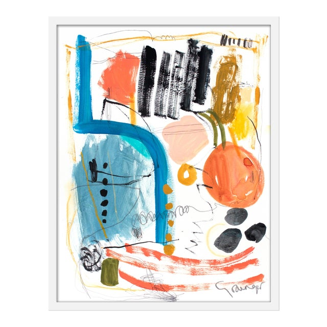 "Medium ""Gathering"" Print by Lesley Grainger, 23"" X 29"" For Sale"