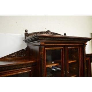 Antique Victorian Walnut Bookcase W. Desk Preview