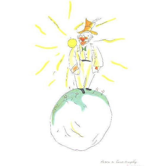 """Lithographic Print by Antoine De Saint Exupery """"The Conceited Man"""" From the Little Prince For Sale - Image 4 of 5"""